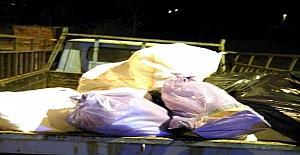 Uşak'ta yolcu otobüsünden 720 kilo kaçak et çıktı