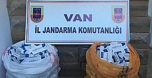 Van'da 156 bin paket kaçak sigara ele geçirildi.
