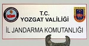 Yozgat'ta Roma Dönemine ait boğa heykeli ele geçirildi