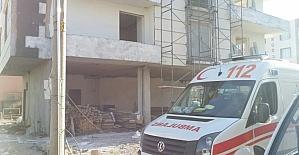 Yüksekten düşen Suriyeli inşaat işçisi yaralandı