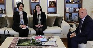 ABD Büyükelçiliği İç Politika Sorumlusu Morency'den Başkan Sekmen'e ziyaret