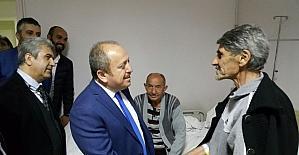 AK Parti İl başkanından hastane ziyareti