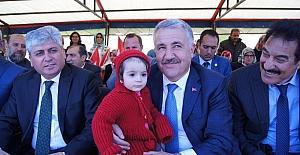 Bakan Arslan, Kağızman'da cami ve kuran kursu temel atma törenine katıldı