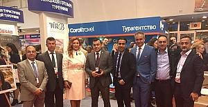 Başkan Yücel, Ukrayna'da Alanya'yı tanıtıyor