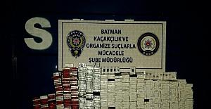 Batman'da 85 bin 30 paket kaçak sigara ele geçirildi