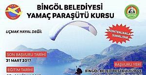Bingöl'de ücretsiz yamaç paraşütü kursu açılıyor
