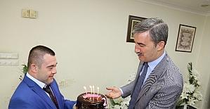 Down Sendromlu Ümit'ten Başkan Şirin'e jest