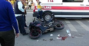 Edirnede motosiklet kazası : 1...