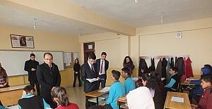 Kaymakam Kırlı'nın okul ziyaretlerine devam ediyor