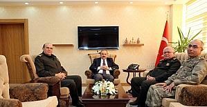 Korgeneral Ata Kalkan, Vali Ustaoğlu'nu ziyaret etti