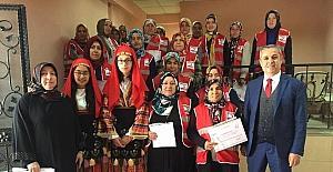 Marmelat kursuna katılan 23 kişiye sertifika