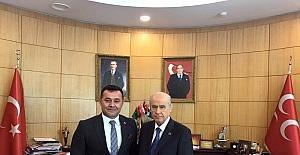 MHP Genel Başkanı Bahçeli, Belediye Başkan Yücel'i kabul etti