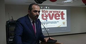 Milletvekili Balta, gençlerle referandumu konuştu