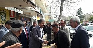 Milletvekili Fırat referandum çalışmalarını Kahta ilçesinde sürdürdü