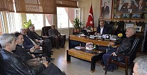 Muhtarlardan Başkan Yaman'a ziyaret