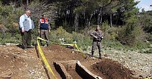 Ula'da antik mezar bulundu
