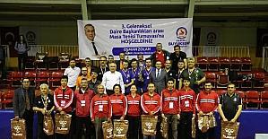 25 takım 100 personel ile masa tenisi turnuvası heyecanı