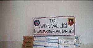 Aydın'da şüpheli araçtan 170 karton kaçak sigara çıktı