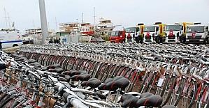Ayvalık'ta 23 Nisan ve bisiklet coşkusu