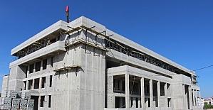 Başsavcısı Yavuz Kırklareli Yeni Adliye Sarayı inşaatında incelemelerde bulundu