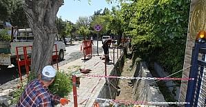Belediye açık su kanalı için önlem aldı