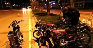 Çalıntı motosikletle 2 motosiklet...