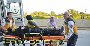 Cami duvarından düşen çocuk yaralandı