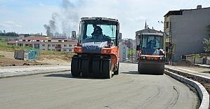 Çınarlı Mahallesinde yol yapım çalışmaları