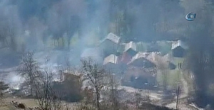 Çorum'da 45 ev yandı kül oldu