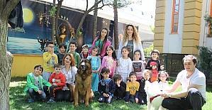 GKV'li minikler okullarında evcil hayvanları ağırladı
