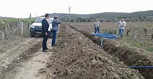 Hacıbaştanlar Mezarlığına yeni su hattı