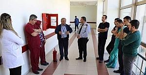 Hastanede deprem yangın eğitimi düzenlendi