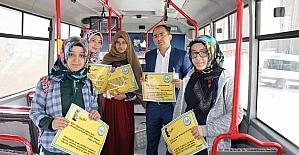 Kısakürek'in şiirleri halk otobüslerine asıldı