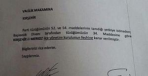 """MHP Kırşehir İl Başkanı Arif Ekici, """"3 ilçenin seçimleri Genel Merkez tarafından incelenecek"""""""