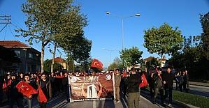 Sakarya'da '57. Alay Vefa yürüyüşü' gerçekleşti