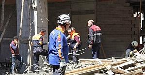 Samsun'da cami inşaatı çöktü