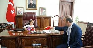 Vali Abdullah Erin'in koltuğuna Aylin Ayaz oturdu