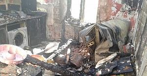 Yangında evleri küle döndü