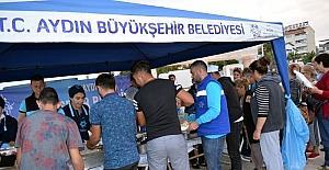 Aydın Büyükşehir Didim'de iftar çadırı kurdu