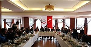 BİRKONFED Erzurum yönetimi basın mensupları ile buluştu