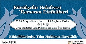 Büyükşehir Belediyesinden iftara davet