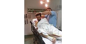 Elektrik akımına kapılan işçi hastanelik oldu