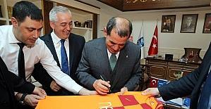 Galatasaray Başkanı Özbek'ten Başkan Aydın'a ziyaret