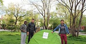 İftar çadırı kurulmamasına öğrencilerden tepki