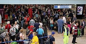 Londra'da tüm uçuşlar iptal edildi