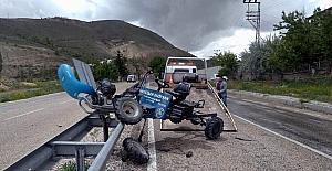 Otomobil ile çapa motoru çarpıştı: 1 yaralı