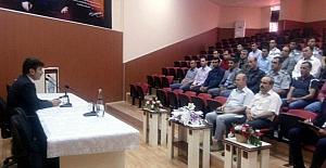 Rektör Karacoşkun üniversitede Güvenlik toplantısı yaptı