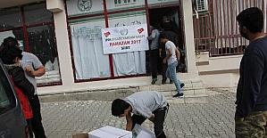 Suriyeli ailelere ramazan yardımı