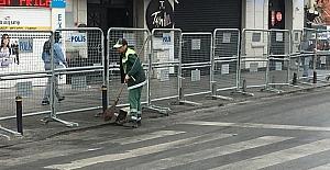 Temizlik işçileri 1 Mayıs'ta da görevinin başında