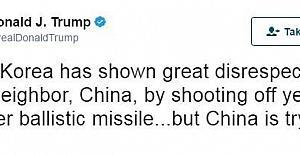 Trump, Kuzey Kore'yi uyardı